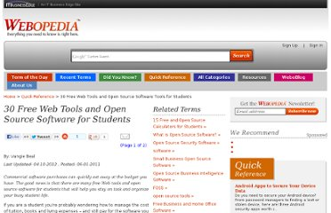 http://www.webopedia.com/quick_ref/free-web-and-open-source-software-for-students.html