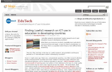 http://blogs.worldbank.org/edutech/finding-useful-research-on-ict-use-in-education-in-developing-countries-0