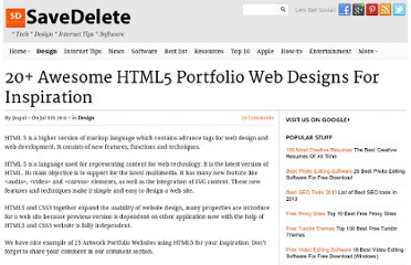 http://savedelete.com/20-awesome-html5-portfolio-web-designs-for-inspiration.html