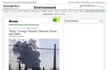 http://green.blogs.nytimes.com/2011/02/21/dirty-energy-dwarfs-clean-in-china-and-india/