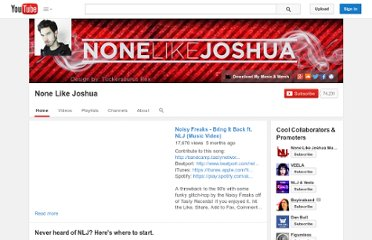 http://www.youtube.com/user/NoneLikeJoshua