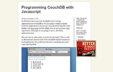http://jan.prima.de/~jan/plok/archives/108-Programming-CouchDB-with-Javascript.html