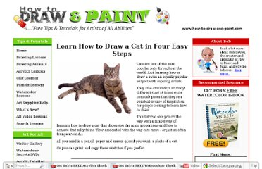 http://www.how-to-draw-and-paint.com/how-to-draw-a-cat.html
