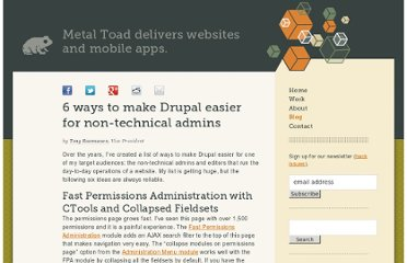 http://www.metaltoad.com/blog/6-ways-make-drupal-easier-non-technical-admins