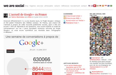 http://wearesocial.fr/blog/2011/07/laccueil-de-google-en-france/