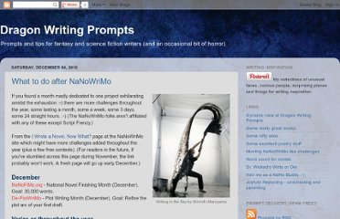 http://dragonwritingprompts.blogspot.com/2010/12/what-to-do-after-nanowrimo.html