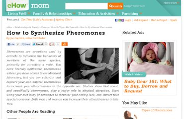 http://www.ehow.com/how_7778606_synthesize-pheromones.html