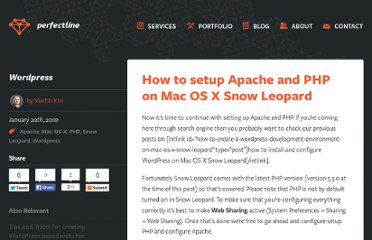 http://www.perfectline.ee/blog/how-to-setup-apache-and-php-on-mac-os-x-snow-leopard