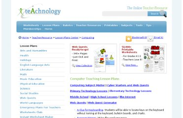 http://www.teach-nology.com/teachers/lesson_plans/computing/
