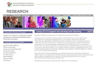 http://www.smu.ac.uk/research/index.php/using-ict-in-support-of-learning-and-teaching