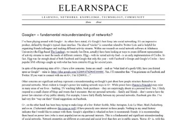 http://www.elearnspace.org/blog/2011/07/10/google-fundamental-misunderstanding-of-networks/