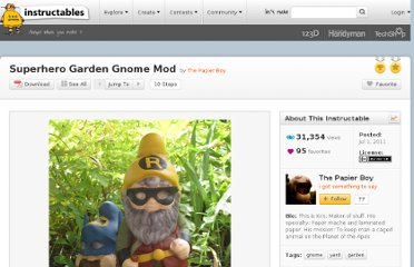http://www.instructables.com/id/Superhero-Garden-Gnome-Mod/