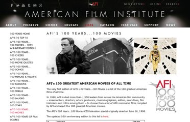 http://www.afi.com/100years/movies.aspx