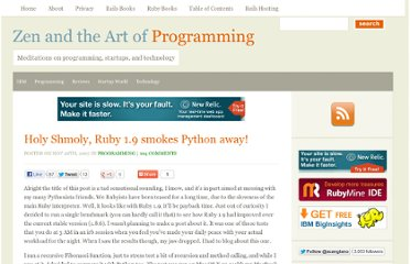 http://programmingzen.com/2007/11/28/holy-shmoly-ruby-19-smokes-python-away/