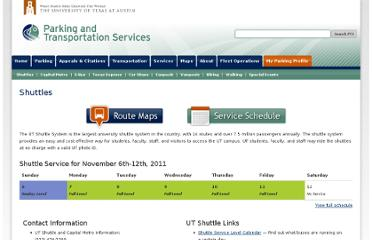 http://www.utexas.edu/parking/transportation/shuttle/