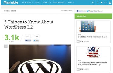 http://mashable.com/2011/07/10/wordpress-3-2-guide/