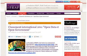 http://www.ifrap.org/Classement-international-2011-Open-Data-et-Open-Government,12204.html