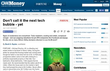 http://tech.fortune.cnn.com/2011/07/11/dont-call-it-the-next-tech-bubble-yet/