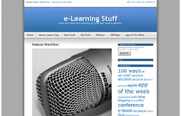 http://elearningstuff.net/2011/07/11/podcast-workflow/