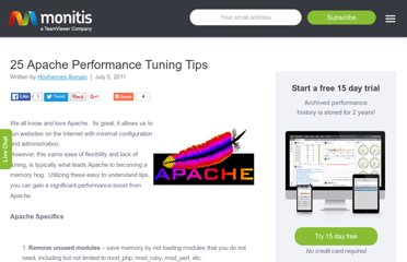 http://blog.monitis.com/index.php/2011/07/05/25-apache-performance-tuning-tips/