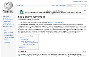 http://en.wikipedia.org/wiki/Sex-positive_movement