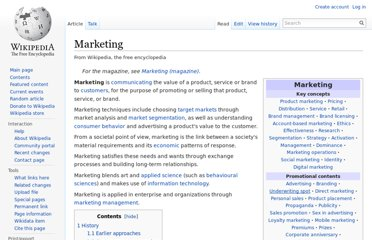 http://en.wikipedia.org/wiki/Marketing
