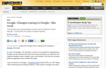 http://www.computerworld.com/s/article/9218303/Google_Changes_coming_to_Google_this_week