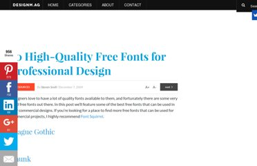 http://designm.ag/resources/free-fonts-for-professional-design/
