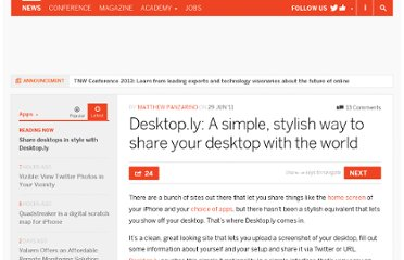 http://thenextweb.com/apps/2011/06/29/desktop-ly-a-simple-stylish-way-to-share-your-desktop-with-the-world/