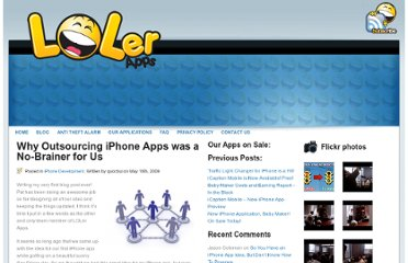 http://www.lolerapps.com/why-outsourcing-iphone-apps-was-a-no-brainer-for-us