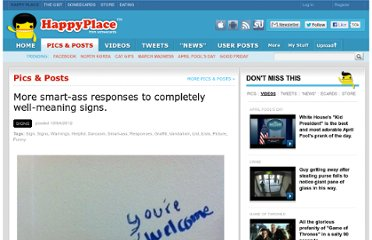 http://www.happyplace.com/4286/brilliantly-sarcastic-responses-to-completely-well-meaning-signs