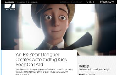 http://www.fastcodesign.com/1664419/an-ex-pixar-designer-creates-astounding-kids-book-on-ipad