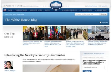 http://www.whitehouse.gov/blog/2009/12/22/introducing-new-cybersecurity-coordinator