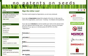 http://www.no-patents-on-seeds.org/en/recent-activities/sign-now