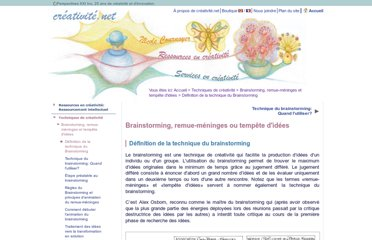 http://www.creativite.net/brainstorming-remue-meninges-techniques/definition-du-brainstorming/