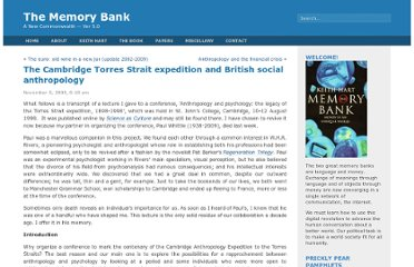 http://thememorybank.co.uk/2009/11/06/the-cambridge-torres-strait-expedition-and-british-social-anthropology/