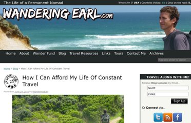 http://www.wanderingearl.com/how-i-can-afford-my-life-of-constant-travel/