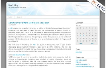http://blogs.cetis.ac.uk/lisa/2011/07/12/a-brief-overview-of-xcri-about-to-have-a-new-boost/