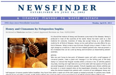 http://www.newsfinder.org/site/more/honey_and_cinnamon/
