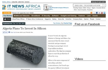 http://www.itnewsafrica.com/2011/07/algeria-plans-to-invest-in-silicon-production/