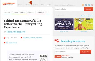 http://coding.smashingmagazine.com/2011/07/12/behind-the-scenes-of-nike-better-world/
