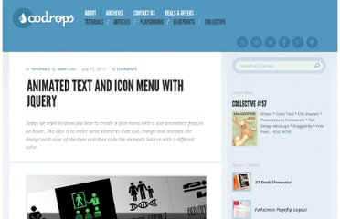 http://tympanus.net/codrops/2011/07/12/animated-text-and-icon-menu/