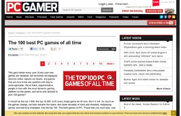 http://www.pcgamer.com/2011/02/16/the-100-best-pc-games-of-all-time/