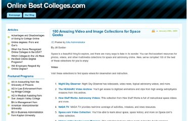 http://www.onlinebestcolleges.com/blog/2009/100-amazing-video-and-image-collections-for-space-geeks/