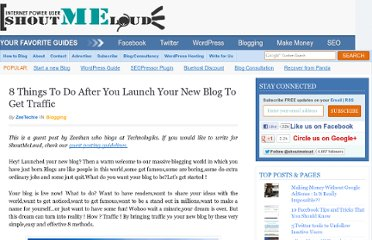 http://www.shoutmeloud.com/8-things-to-do-after-you-launch-your-new-blog-to-get-traffic.html