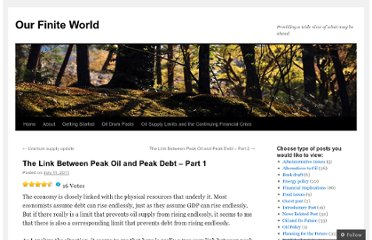 http://ourfiniteworld.com/2011/07/11/the-link-between-peak-oil-and-peak-debt-part-1/