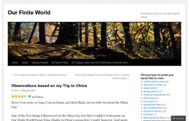 http://ourfiniteworld.com/2011/05/30/observations-based-on-my-trip-to-china/