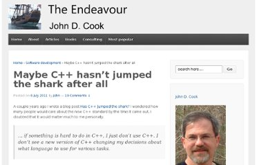 http://www.johndcook.com/blog/2011/07/06/maybe-c-hasnt-jumped-the-shark-after-all/