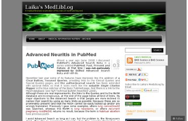 http://laikaspoetnik.wordpress.com/2009/03/08/advanced-neuritis-in-pubmed/