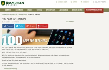 http://www.rasmussen.edu/student-life/blogs/main/100-apps-for-teachers/